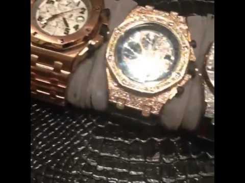 Floyd Mayweather Muestra Sus 7 Relojes Forrados En