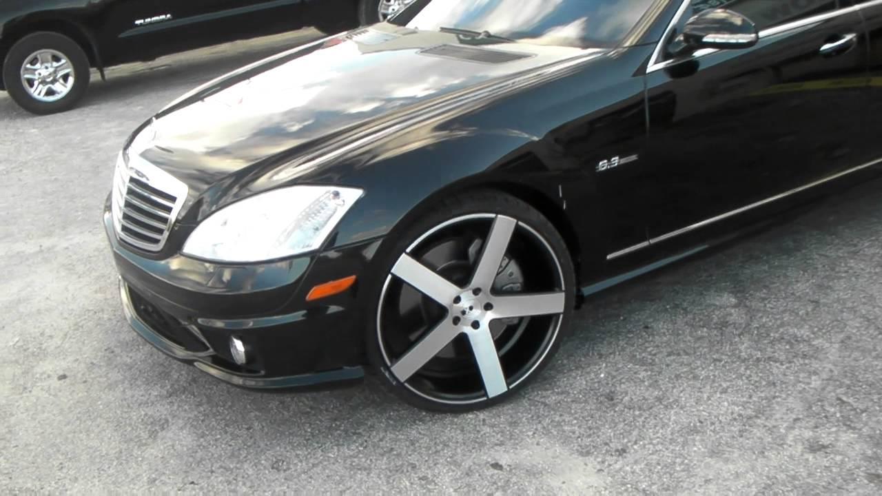 www DUBSandTIRES com 22 Inch XO Wheels Havana Machine Black 2008 Mercedes  S63 Concave Rims