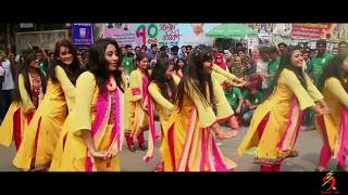 Official Flash-Mob Of Accounting Dept || 9th batch || Jagannath University,Dhaka || Rag Day 2018