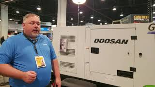 Video still for Doosan Portable Power G50 Generator at World of Concrete 2019