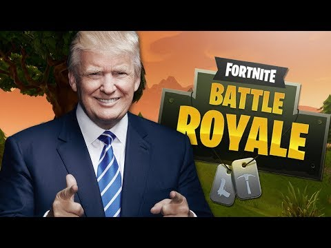 IF TRUMP played FORTNITE: Battle Royale! (Voice Troll)
