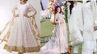 Most stylish design for white and off white dresses 2020