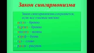 Уроки татарского языка Урок 3 закон сингармонизма. Өстәл-стол