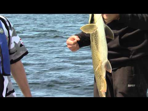 Fishing for lake trout, brook trout, pike and walleye, Elk Island Lodge, God's Lake, Manitoba