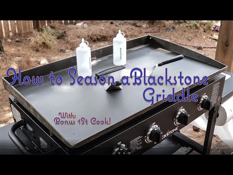 How To Season A Blackstone Griddle (and 1st Cook)