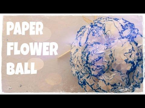 DIY Trang trí phòng ngủ - Cách làm quả cầu hoa bằng giấy lụa