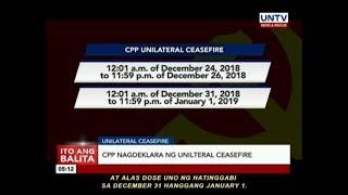CPP nagdeklara ng unilteral ceasefire