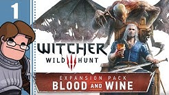 Let's Play The Witcher 3: Blood and Wine Part 1 - Envoys, Wineboys (Death March Difficulty)