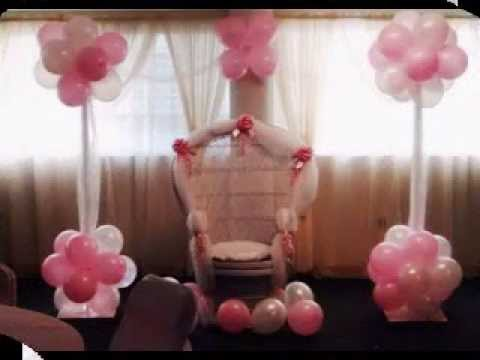 diy baby shower chair decoration ideas youtube. Black Bedroom Furniture Sets. Home Design Ideas