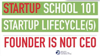 Startup School Series - Complete Startup Life Cycle (Part 5) Startup Business Needs Fast Growth
