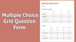 كيفية إنشاء عدة خيارات الشبكة شكل سؤال باستخدام نماذج Google