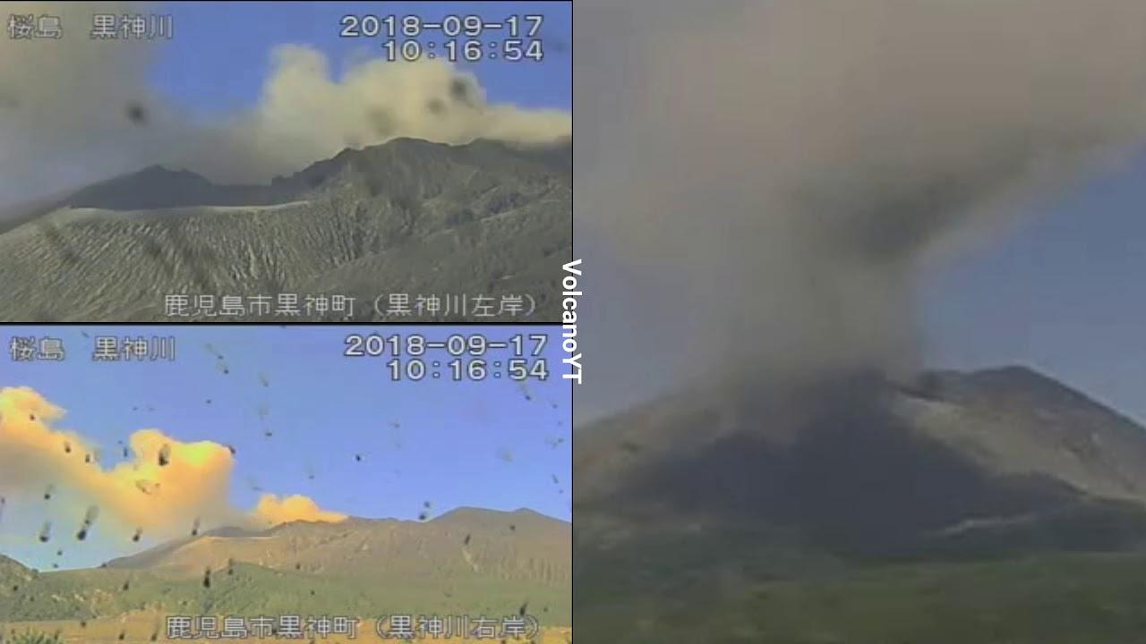 17/9/2018 WITA - Mt Sakurajima 桜島 TimeLapse