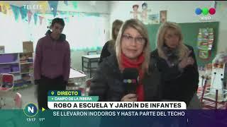 ROBARON EL JARDÍN DE INFANTES DE CAMPO LA RIBERA Y SE LLEVARON HASTA LOS INODOROS