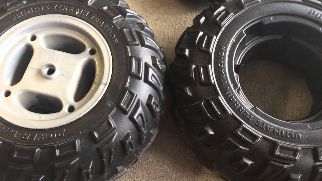 Diy Tire Replacement On Fisher Price Power Wheels Atv Youtube