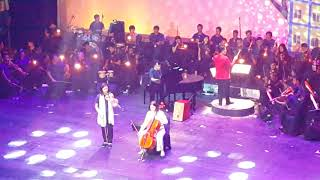 Veronica Tan Bermain Cello Didampingi Anak-anak Rusun
