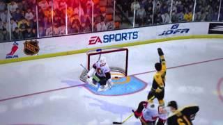 NHL 2005 Federov Scores Off Face Off Top Shelf
