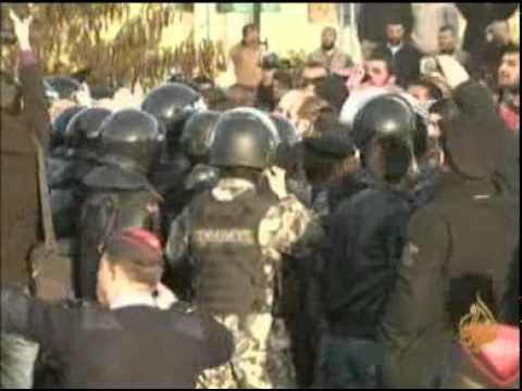 إحتجاجات في عمّان على إحراق مقر الحركة الإسلامية