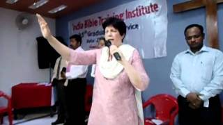 Last Prayer and Benediction by Pastor Kay Sylvester on 35th Convocation Service of India Bible Training Institute Prathna Bhawan Allahabad