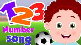 Football Number Song | Schoolies Cartoon Video For Kids