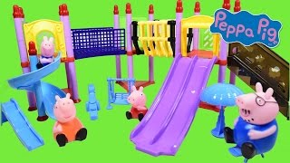Peppa Pig  Playground Construction Toys Mega Blocks Playset Video ◕ ‿ ◕ Haus Toys