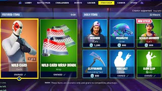 WILD CARD WRAP BUNDLE | WILD CARD | SCARLET DEFENDER | SLOW CLAP; Item Shop in FORTNITE #March14th