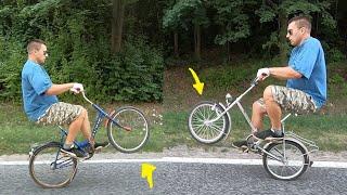 Rowerowe tricki i motorynka