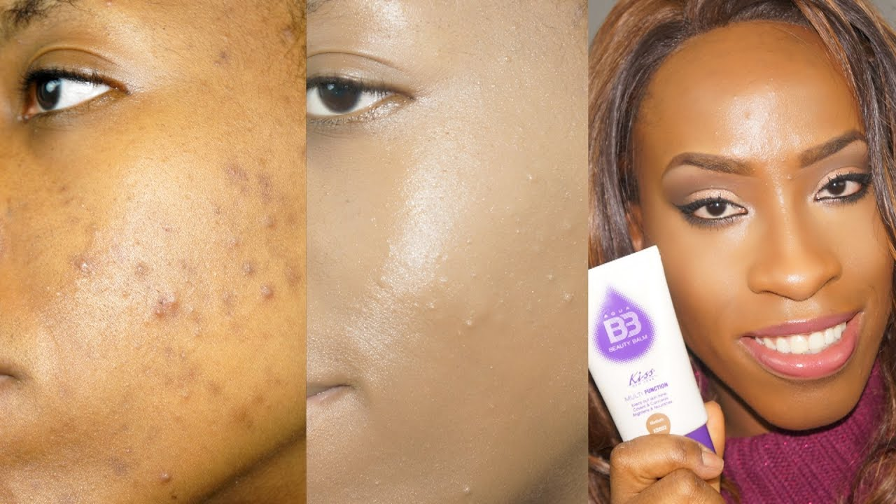 The Best Bb Cream For Dark Skin Kiss Aqua Bb Cream Review And Demo Youtube