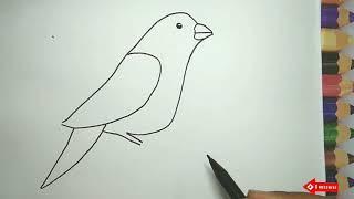 Download lagu Menggambar Burung Mudah sederhana