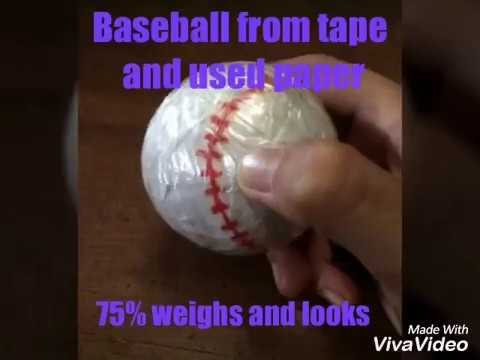 Homemade baseball from recycled paper