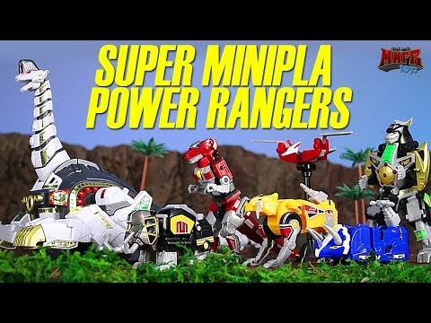 Power Rangers Super Minipla Titanus Ultrazord! Animation & Toy Review!