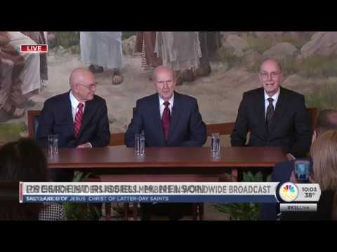 Mormon President Russell M. Nelson's First Press Conference 1/16/2018