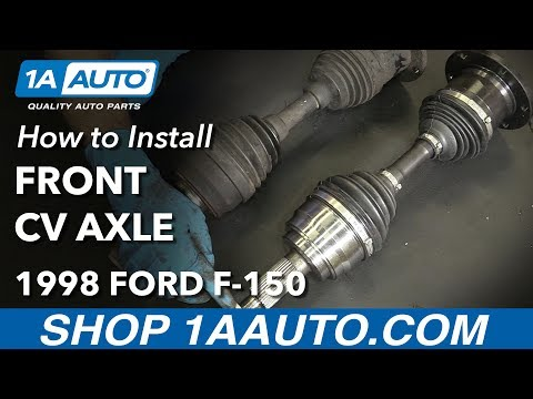 How to Replace Front CV Axle 97-03 Ford F-150 - YouTube