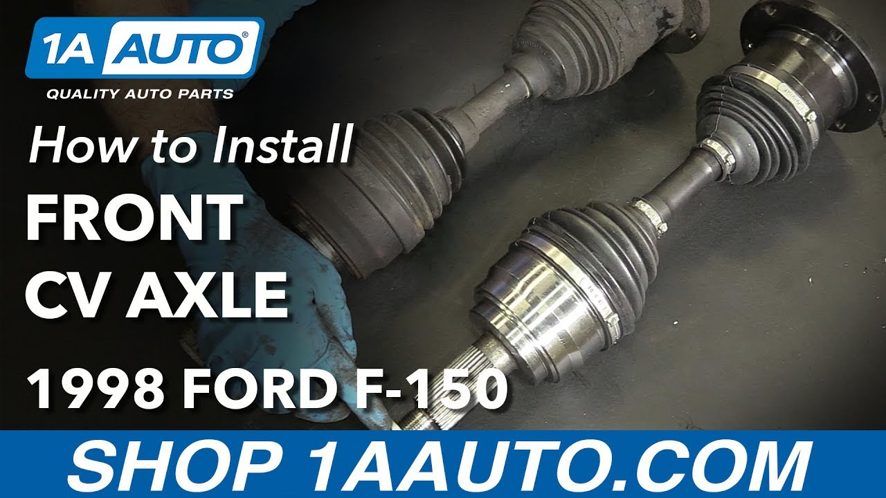 How to Replace Front CV Axle 9703 Ford F150  YouTube