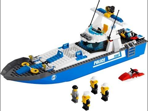 LEGO City Barco De Polica Juguetes Para Nios Lego Juguetes