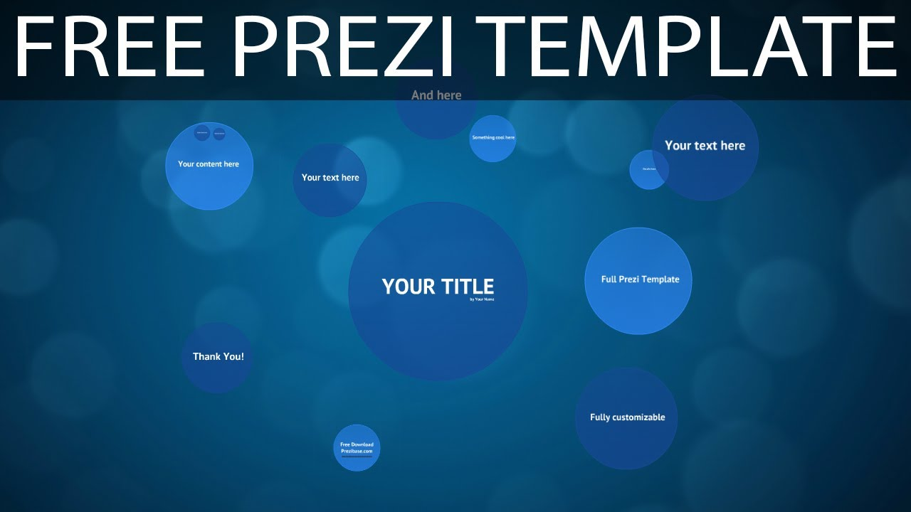 blue circles - free prezi template - youtube, Powerpoint templates