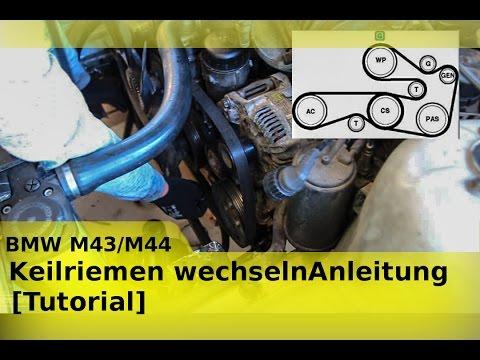 BMW  M41 I M42 I M43 I M44 I Motor Keilriemen wechseln Anleitung [Tutorial]