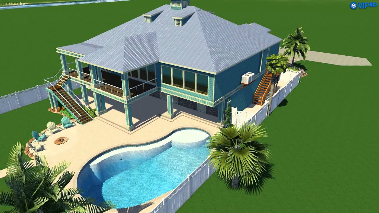 Vip3d 3d swimming pool design software youtube for Pool design program