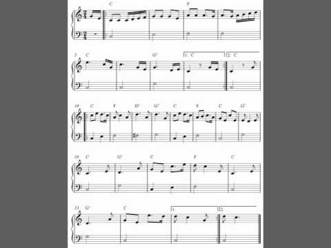Dixie, free easy piano sheet music notes