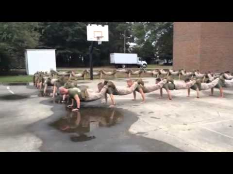 USMC ALPHA ONE PLATOON PUSH-UP