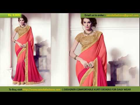 Buy Online Dress - Modern New Arrivals Fashionable Party Wear Designer Sarees Collection