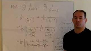 The Fibonacci Numbers Using Power Series