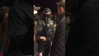 MMA fighter Jake Shields Berkeley protest
