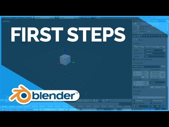 First Steps - Blender Fundamentals