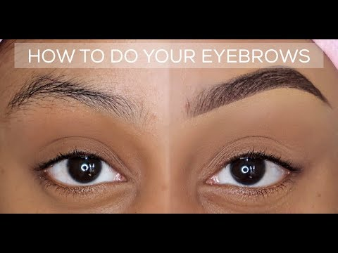 HOW TO: QUICK AND EASY EYEBROW TUTORIAL | BEGINNER ...