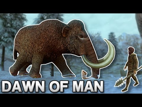 HUNTING A MAMMOTH! - Dawn Of Man Gameplay - Prehistoric City Building Game