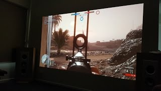 Epson 9300 6040ub 4k Projector VS Benq 2430 Monitor & Input Lag Test - Battlefield 1