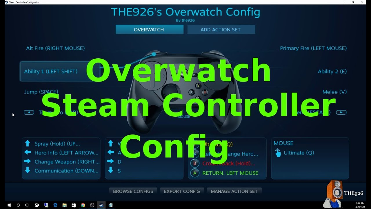 Overwatch Steam Controller ConfigurationSetup Updated