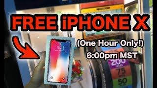 FREE iPHONE X GIVEAWAY (One hour only!)