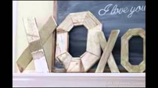 18 Wooden Letters