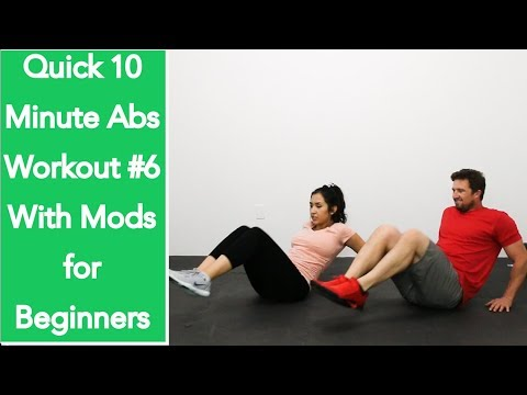 10 minute abs workout for women and men  abs workout at